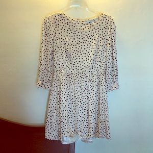 Forever 21  Quarter Sleeve Polka Dot Dress